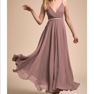 BHLDN Eva dress violet grey